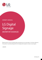 LG 10SM3TB Owner's Manual