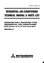 Mitsubishi srk92zl s manuals mitsubishi srk92zl s technical manual parts list 92 pages inverter wall mounted type residential air conditioner sciox Choice Image
