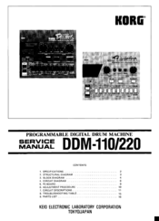 Korg Super Drums DDM-110 Service Manual
