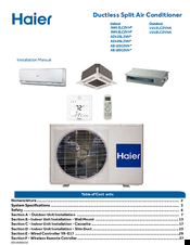 Haier AW18LC2VH Series Installation Manual