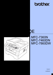 brother mfc 7860dw manuals rh manualslib com Brother Ink 7860DW Brother Printer MFC-7860DW Driver