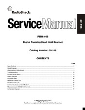 RADIO SHACK PRO-106 SERVICE MANUAL Pdf Download