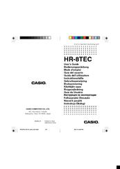 casio hr 8tec manuals rh manualslib com casio hr-100tm user guide Casio HR-100TM Ink Roller