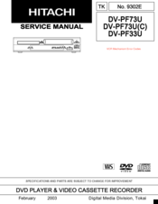 hitachi pf73u dv dvd vcr combo manuals rh manualslib com Sharp TV VCR Combo Hitachi VHS Player