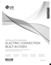 LG LWD3081STL Installation Manual
