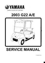 Yamaha G22 A/E Service Manual