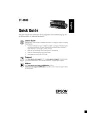 Epson ET-3600 Manuals