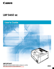 Canon Color imageRUNNER LBP3460 User Manual