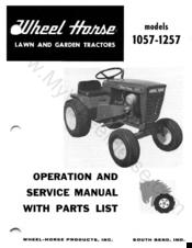 Wheel Horse 1257 Manuals
