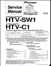 Pioneer #control #center #htvc1 #service #manual | repair manuals.