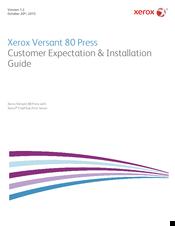 Xerox Versant 80 Press Installation Manual