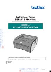 Brother hl2030 hl2032 hl2040 hl2070n service manual download.
