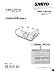 sanyo plv z4 manuals rh manualslib com Sanyo Projector Problems Sanyo Support User Guide