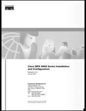 Cisco BPX 8650 Installation And Configuration Manual