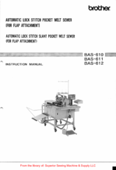 Brother BAS-610 Series Instruction Manual