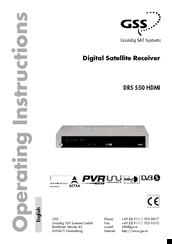 Gss DRS 550 HDMI Manuals