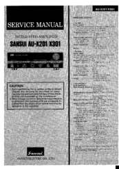SANSUI AU-X201 SERVICE MANUAL Pdf Download. on