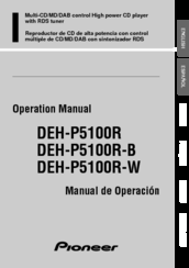 Pioneer DEH-P5100R Operation Manual