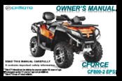 Cfmoto CFORCE 500HO Manuals