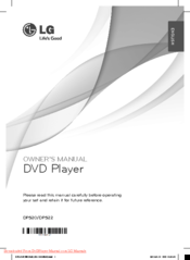 LG DP520 Owner's Manual