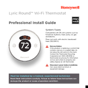 Honeywell lyric round Install Manual