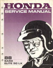 honda elite 50 lx 1988 manuals rh manualslib com honda elite 250 service manual pdf 1985 honda elite 250 owners manual