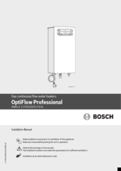 Bosch OptiFlow Professional GWH12 1 CTD E23 Installation Manual