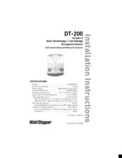 Wattstopper DT-200 Manuals on