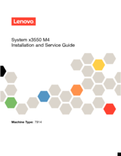 Lenovo x3550 M4 Installation And Service Manual