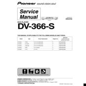 pioneer dv 366 s manuals rh manualslib com Instruction Manual Book Operators Manual