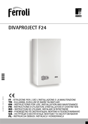 Ferroli divaproject f24 manuals for Ferroli domicondens f24