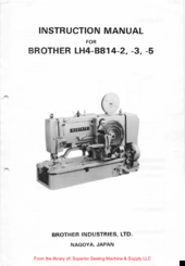 brother lh4 b814 2 instruction manual pdf download rh manualslib com brother lh4-b814-4 manual brother lh4-b814-2 service manual