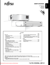 Fujitsu LPF-QSD1W User Manual