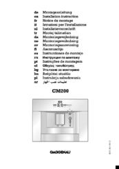 gaggenau cm200 manuals rh manualslib com gaggenau steam oven instruction manual gaggenau coffee machine instruction manual