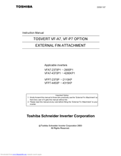 Toshiba VFP7-4132KP Instruction Manual