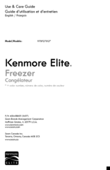 Kenmore 970F27012 Use & Care Manual