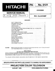 hitachi 61hdx98b service manual pdf download rh manualslib com