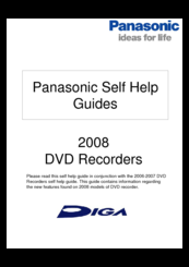 panasonic hdd recorder instructions