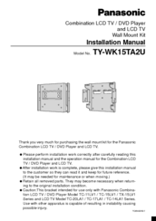 panasonic ty wk15ta2u manuals rh manualslib com Example User Guide User Manual