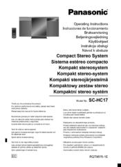 Panasonic SC-HC17 Manuals