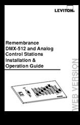 Leviton DMX-512 Manuals
