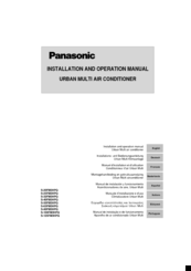 Panasonic CS-25FMHPP Installation And Operation Manual