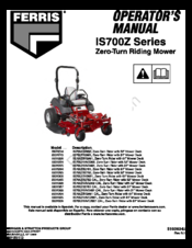 FERRIS IS700Z SERIES OPERATOR'S MANUAL Pdf Download