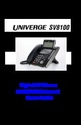 univerge sv8100 user manual