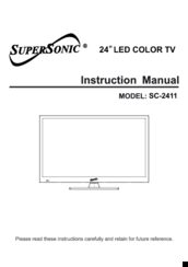 Supersonic 7 portable lcd tv manual.