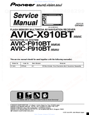 pioneer avic f910bt manuals rh manualslib com Pioneer AVIC- F500BT pioneer avic f700bt installation manual