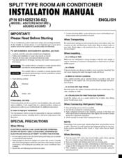 Fujitsu Inverter Halcyon Asu12r2 Manuals