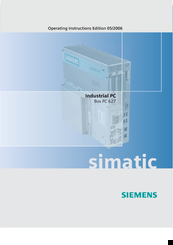 Siemens Simatic box pc 627b Operating Instructions Manual