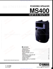 Yamaha MS400 Service Manual