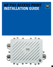 Motorola AP 7161 Installation Manual
